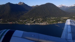 Looking at Sitka during takeoff.